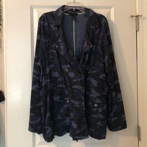 Blue Lane Bryant Army Jacket